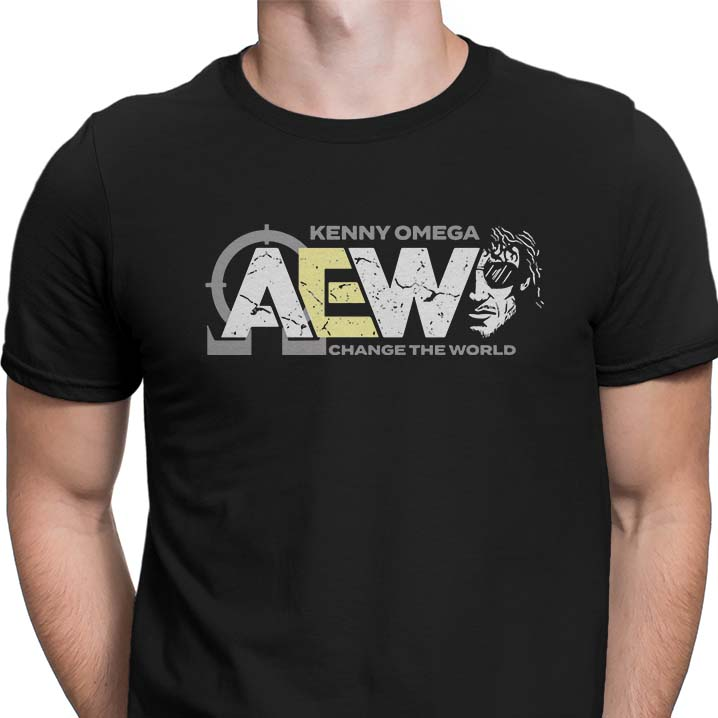 AEW Kenny Omega change the world shirt
