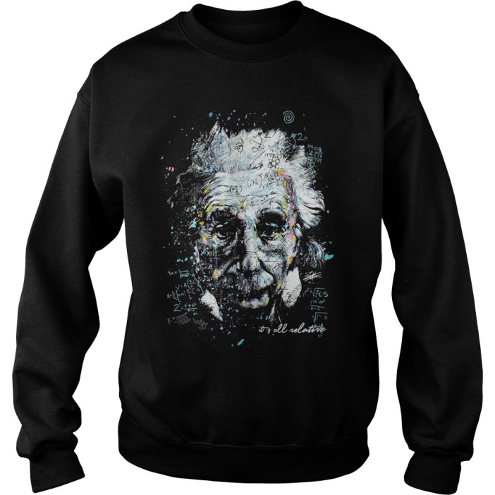 Albert Einstein It's All Relative sweater