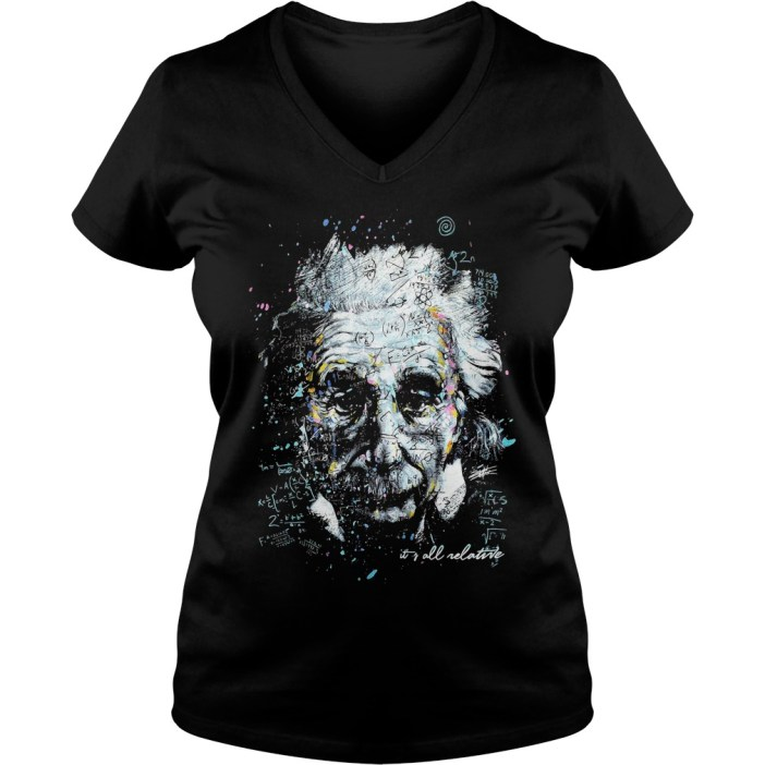 Albert Einstein It's All Relative v-neck