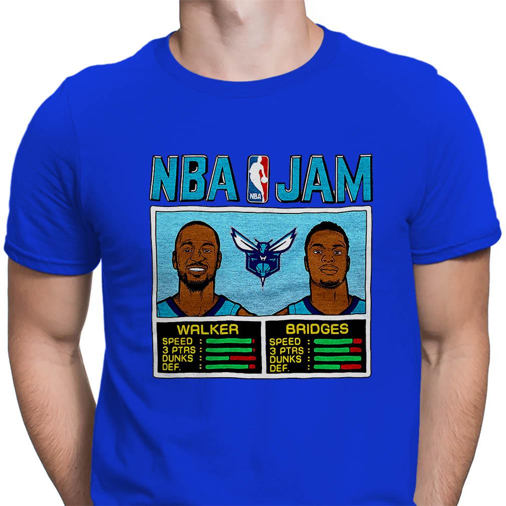 NBA Jam Hornets Walker Bridges Charlotte Hornets shirt