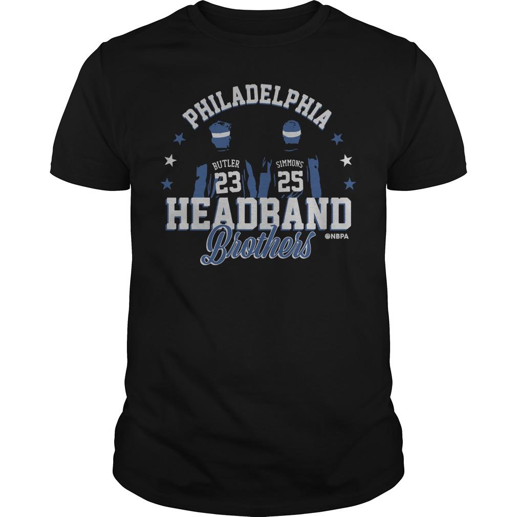 Philadelphia Ben Simmons and Jimmy Butler Headband Brothers guys tee