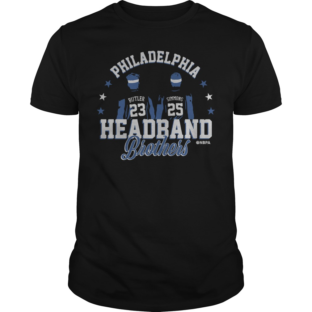 Philadelphia Ben Simmons and Jimmy Butler Headband Brothers guys tee