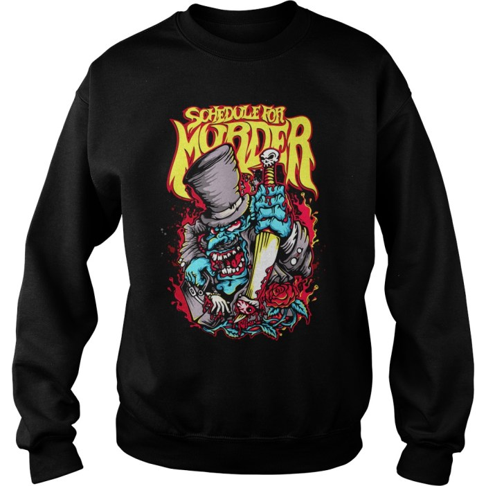 Schedule for Murder sweater