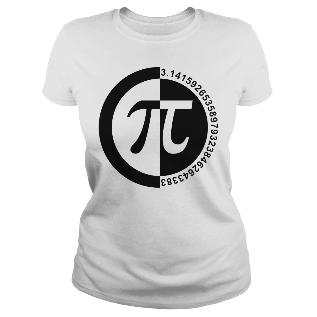 Pi Day number ladies tee