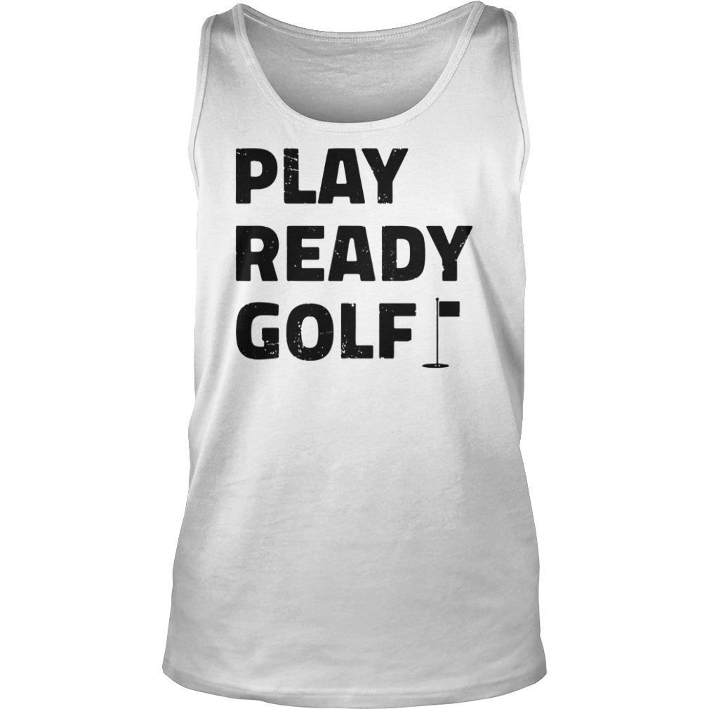 Play ready golf tank top