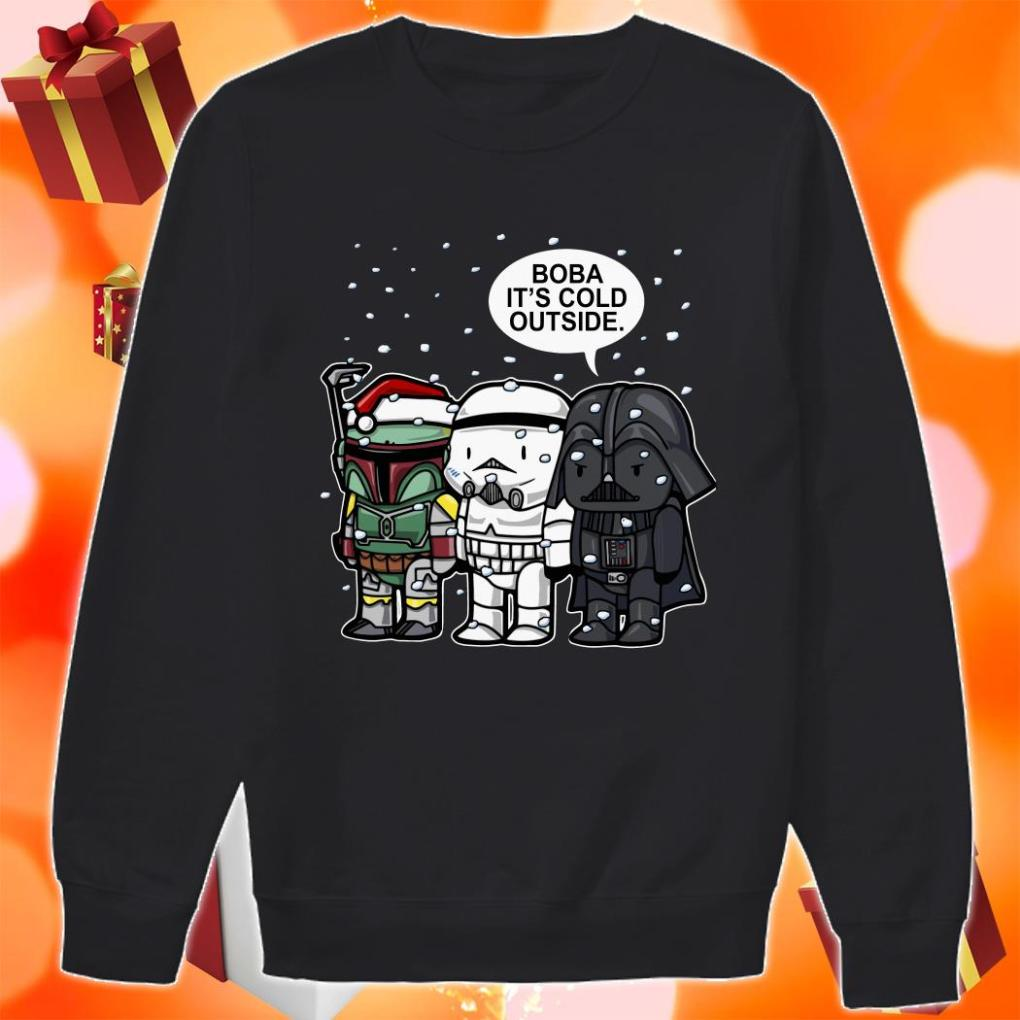 Boba It's Cold Outside Star Wars Merry Christmas sweater
