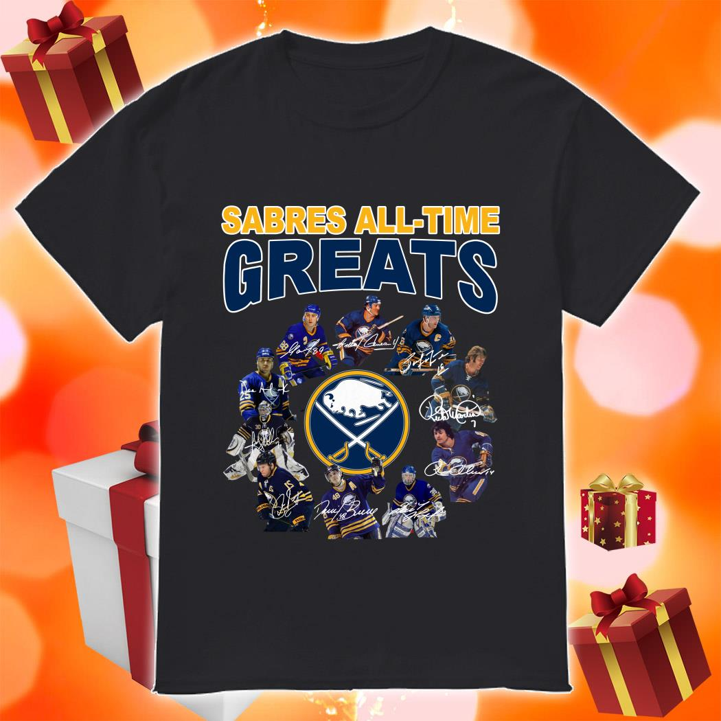 Buffalo Sabres All-time Greats signatures shirt