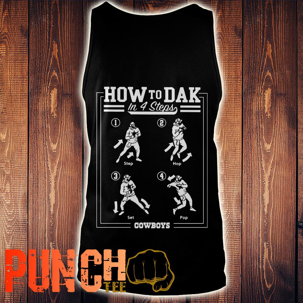 Cowboys How To DAK In 4 Steps tank top