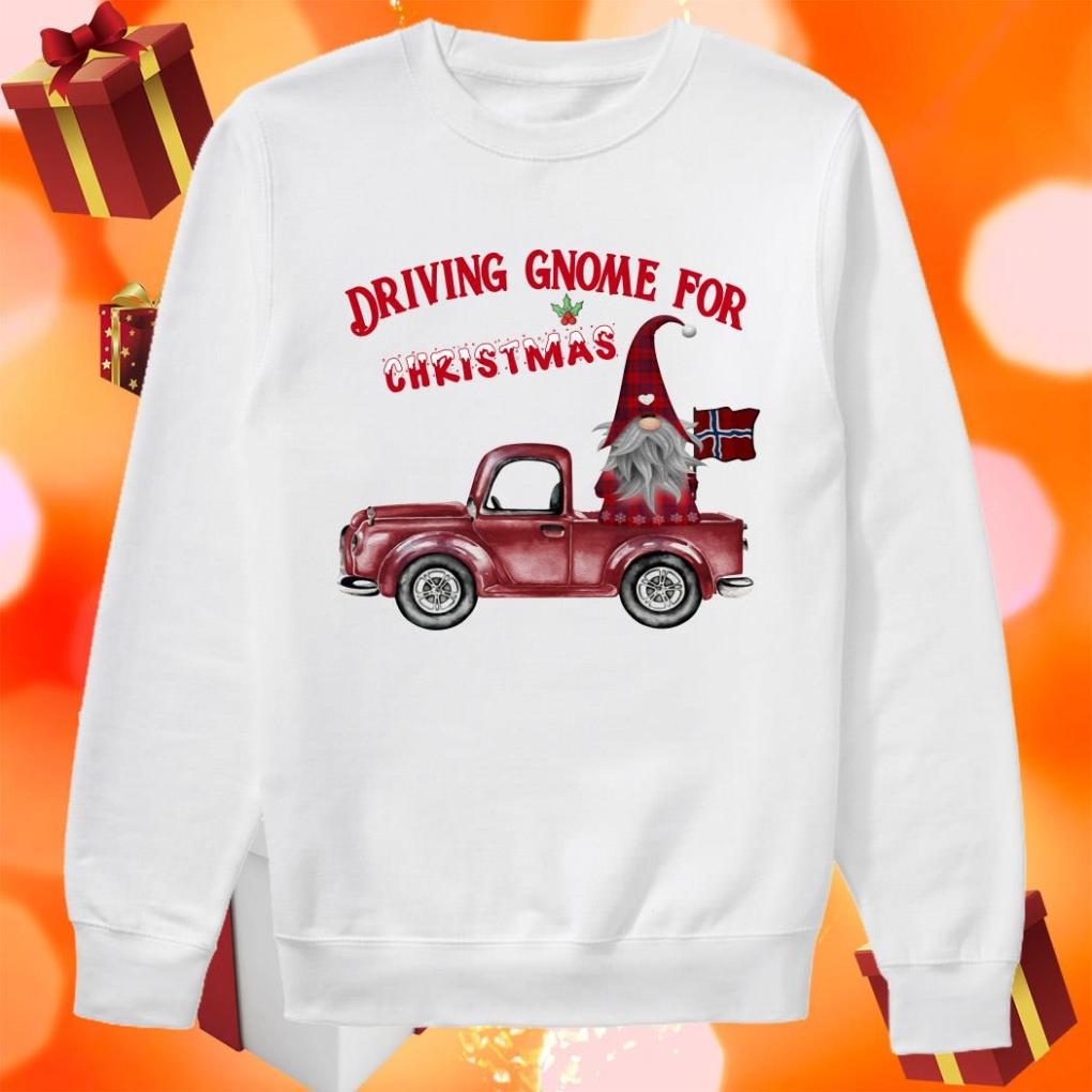 DRIVING GNOME FOR CHRISTMAS NORWEGIAN sweater