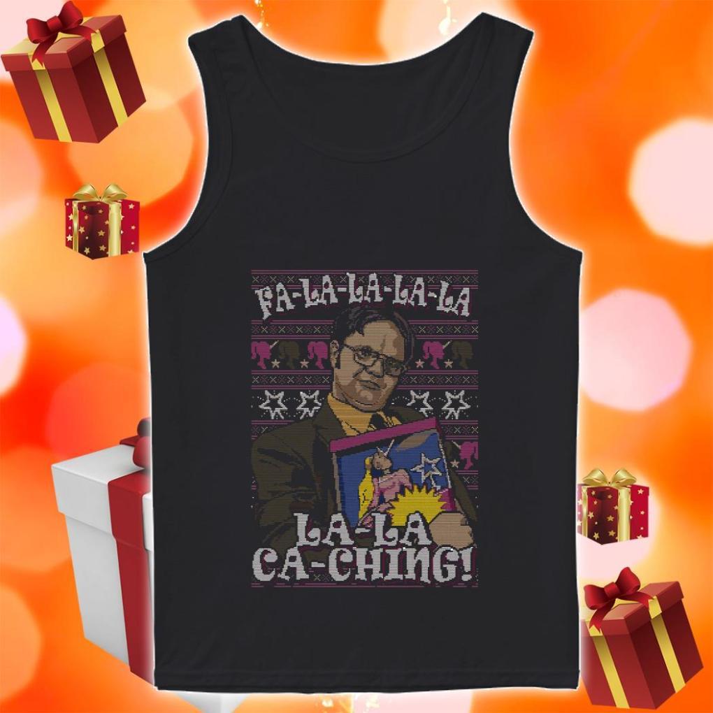 Fa-la-la-la-la la-la ca-ching Dwight Schrute christmas tank top