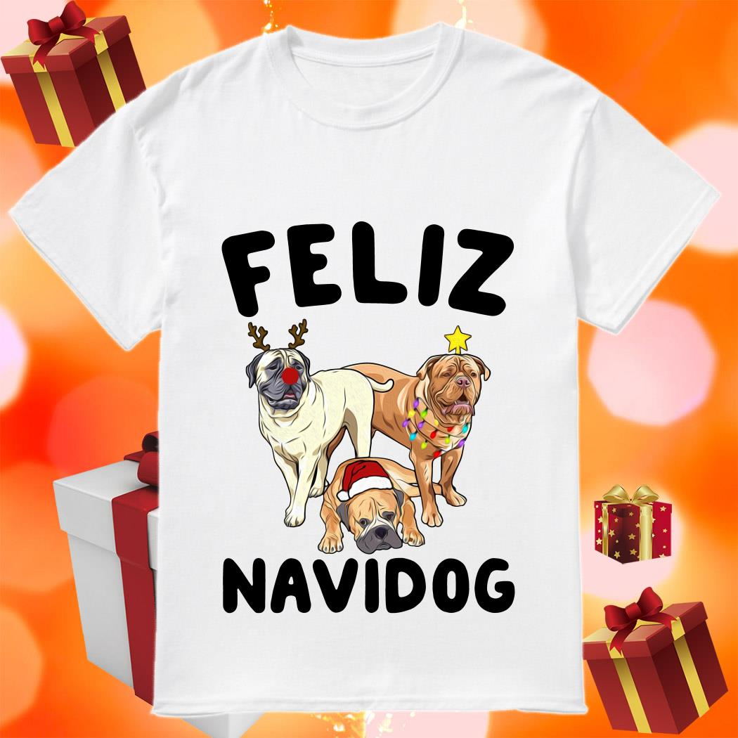 Feliz Navidog Bullmastiff Dog Christmas Sweatshirt