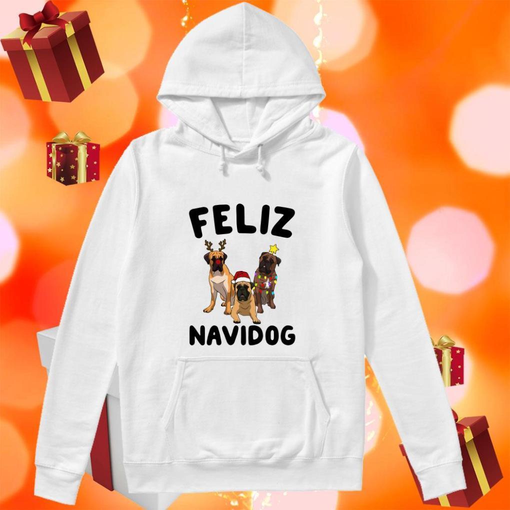 Feliz Navidog English Mastiff Christmas hoodie
