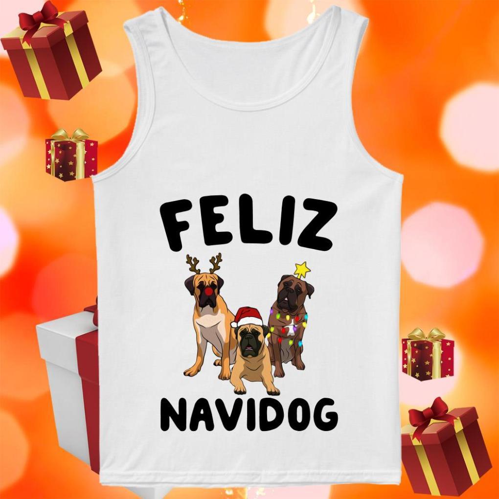 Feliz Navidog English Mastiff Christmas tank top