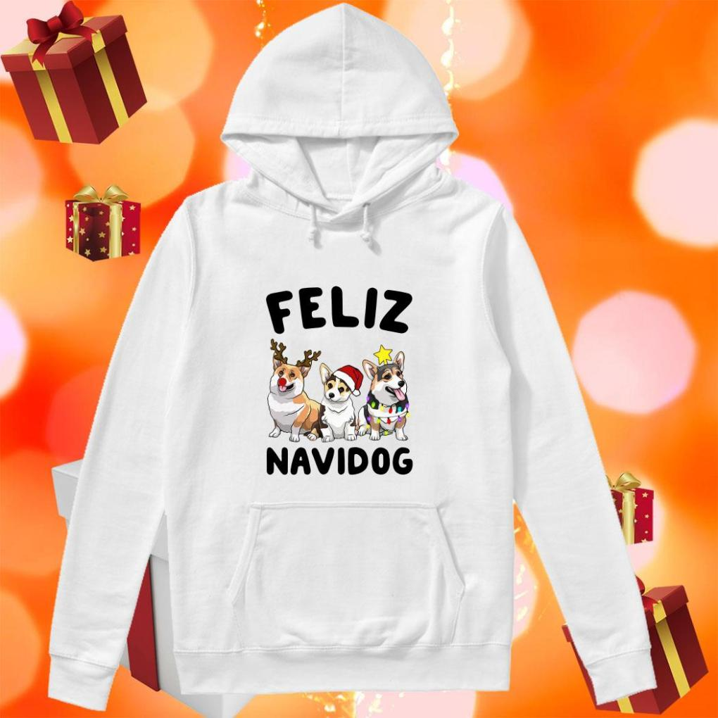 Feliz Navidog Merry Christmas Corgi dog hoodie