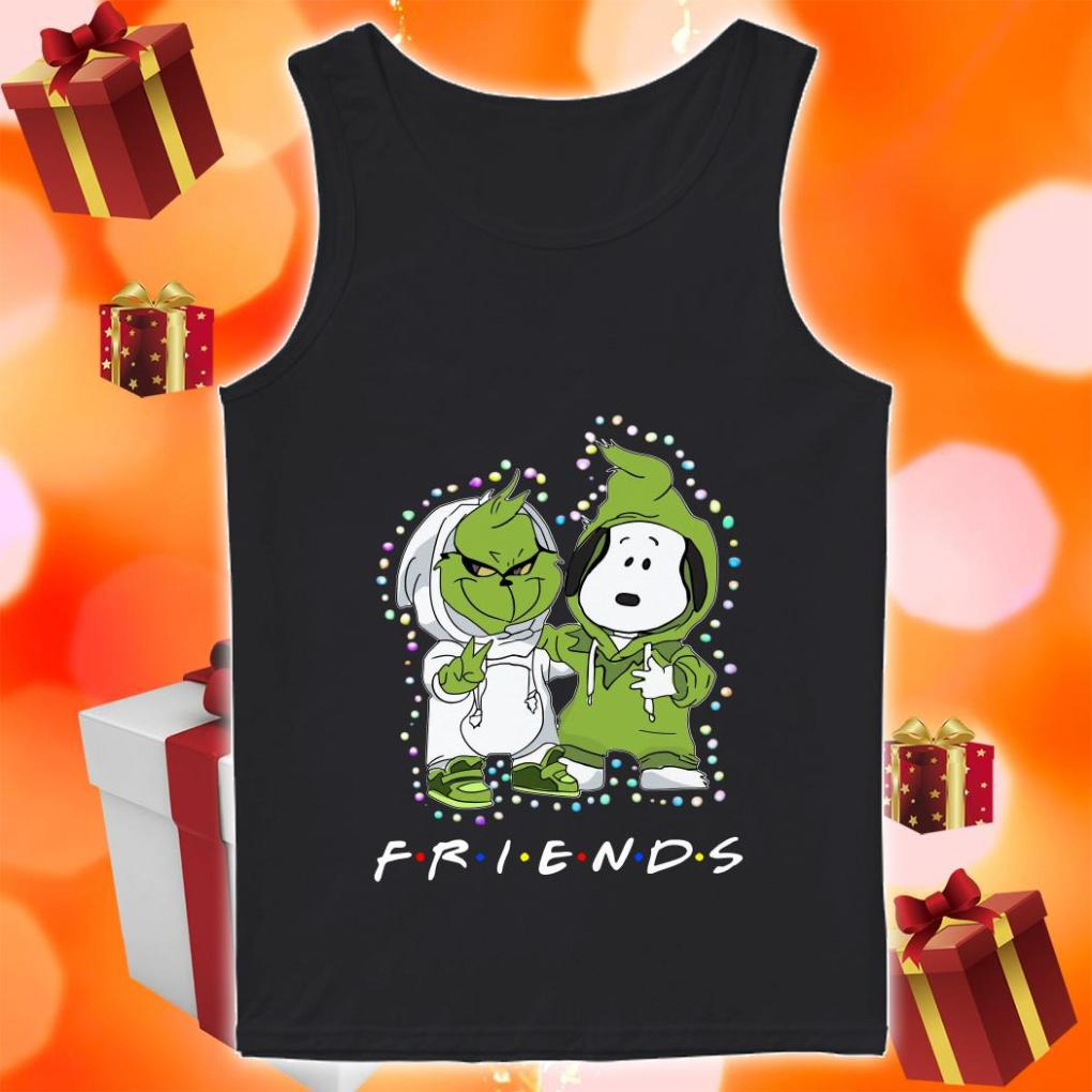Grinch and Snoopy Friends Christmas tank top