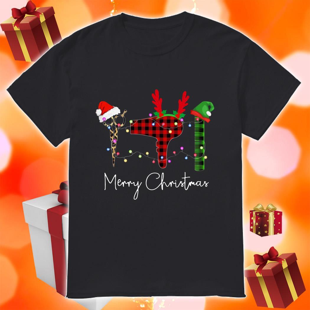 Hair Stylist Merry Christmas shirt