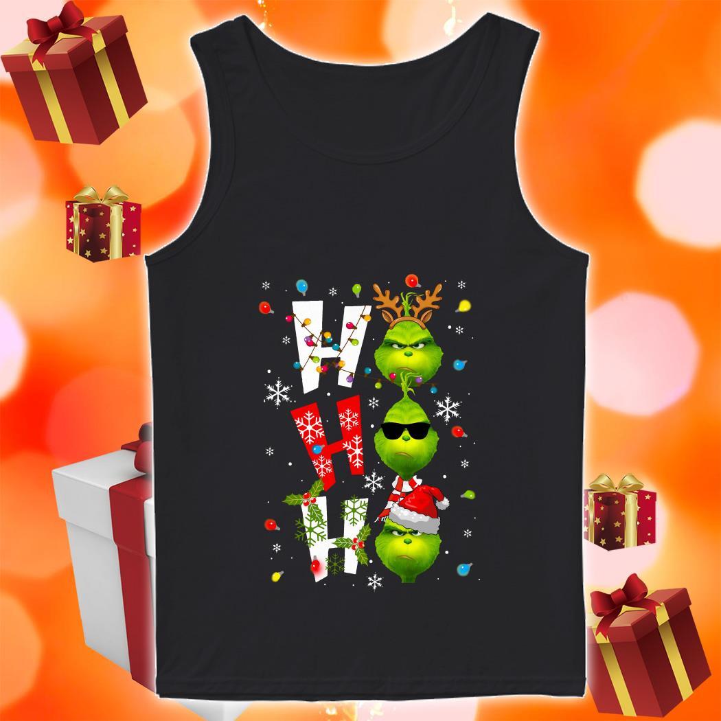 Ho Ho Ho Grinch Christmas tank top