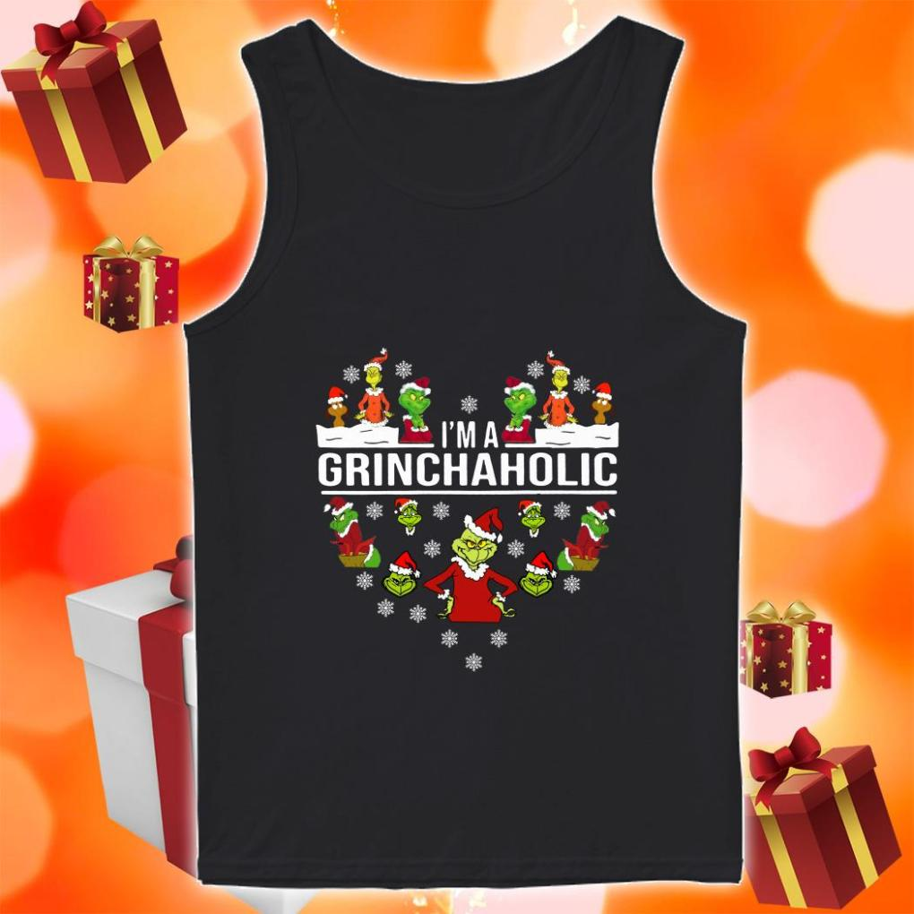 I'm a Grinch aholic Christmas tank top