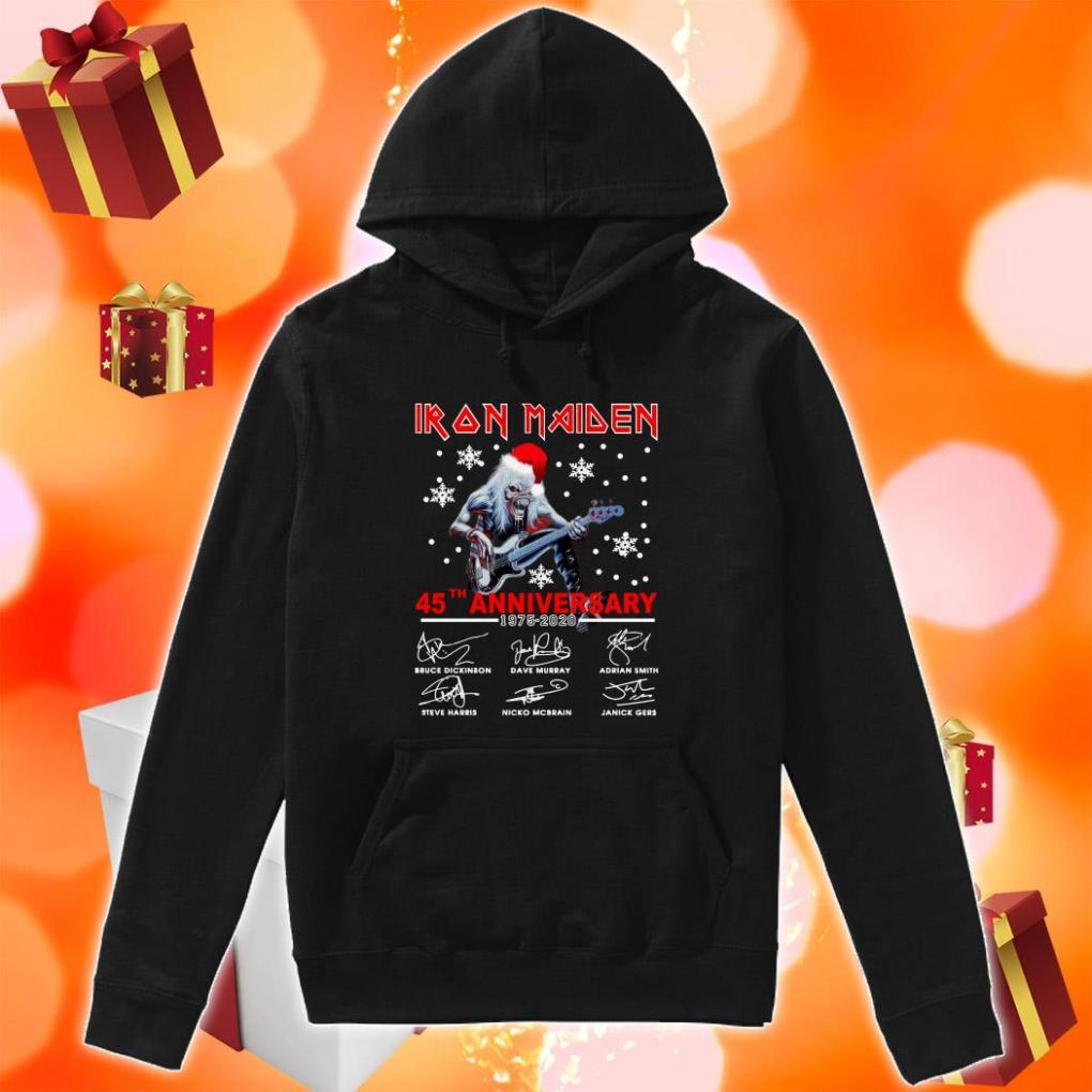 Iron Maiden 45th anniversary 1975 2020 hoodie
