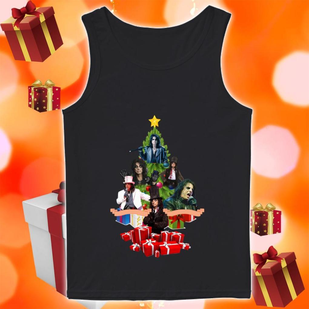 Kiss Band Christmas tree tank top