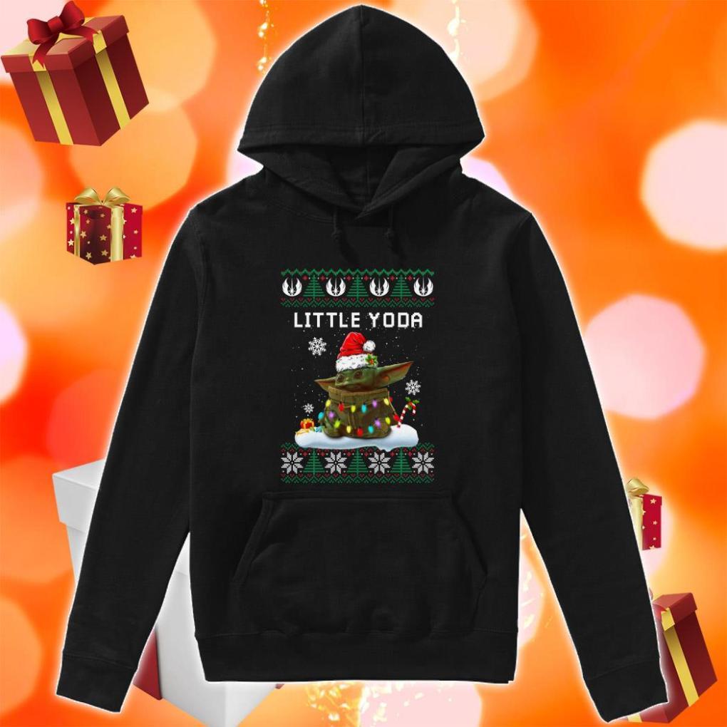 Little Yoda Merry Christmas hoodie