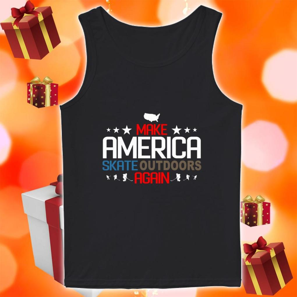 Make America Skate outdoors again tank top