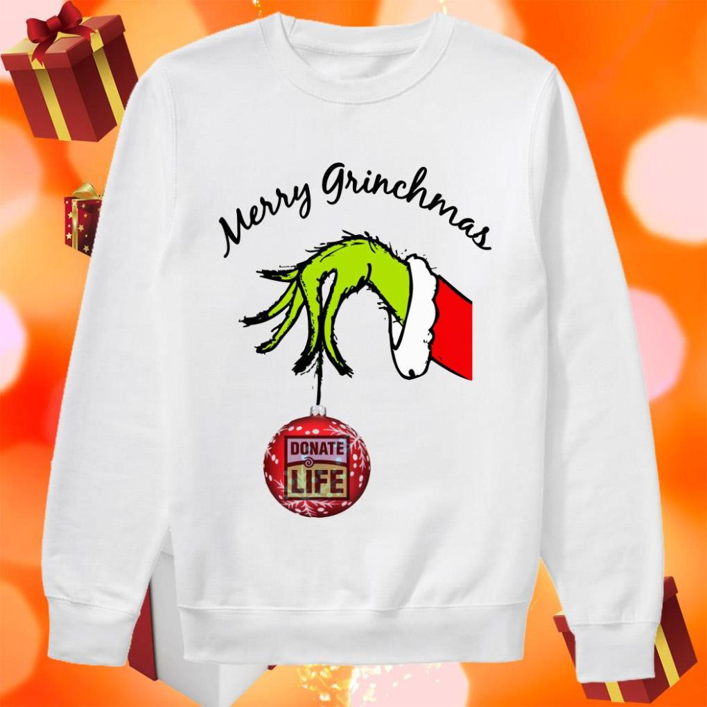 Merry Grinchmas Donate Life sweater
