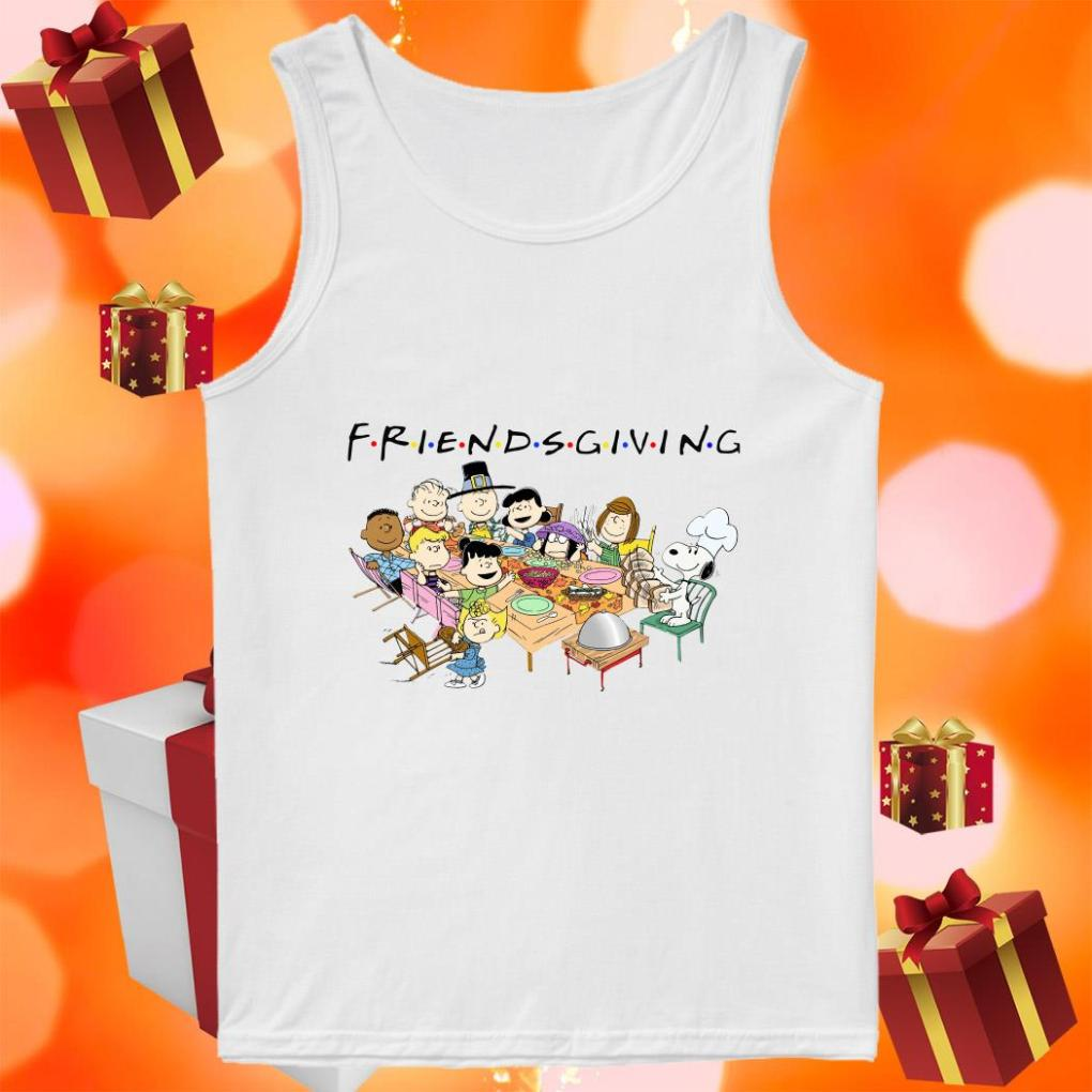 Peanuts Snoopy Friendsgiving tank top