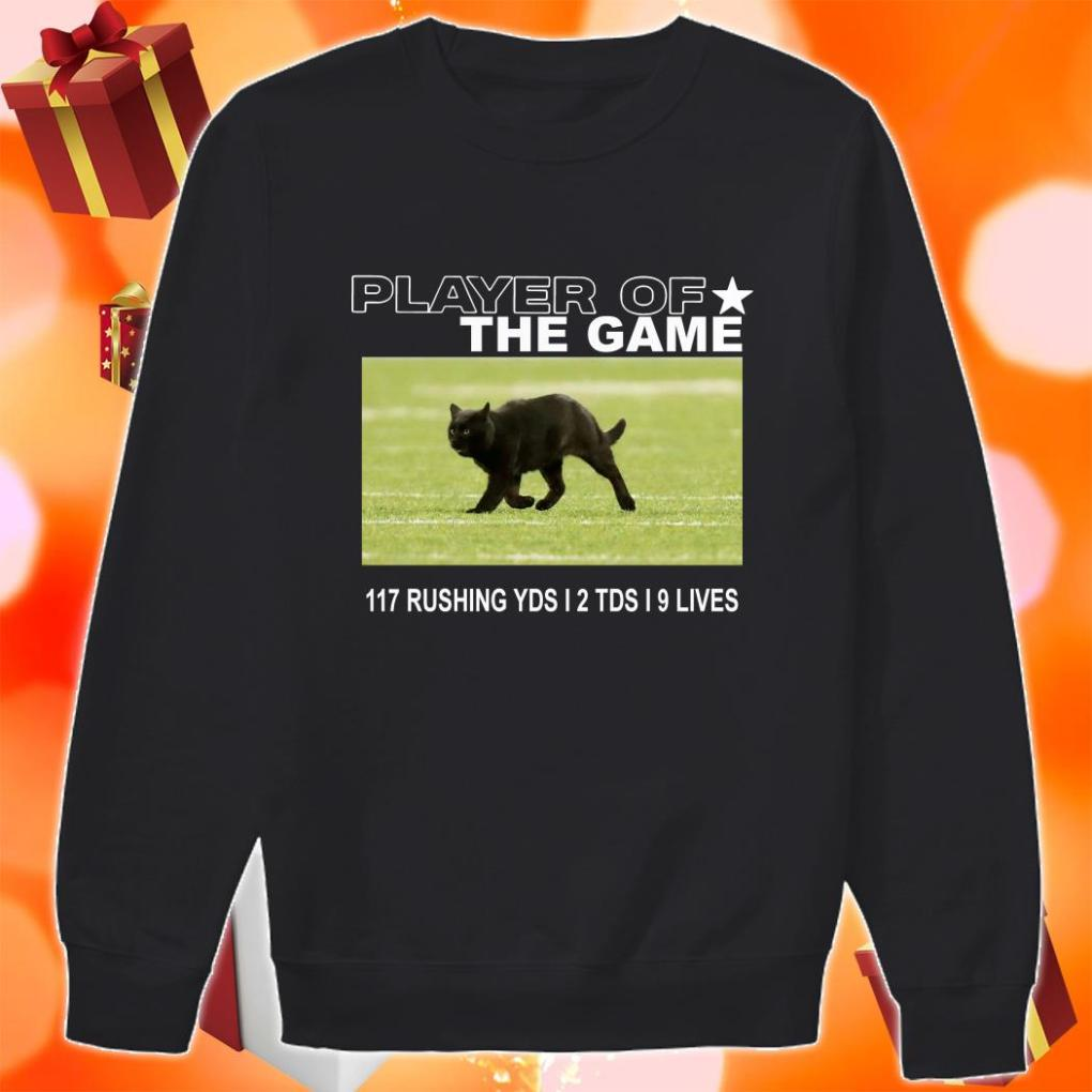 Player of the Game Black Cat Dallas Cowboys sweater