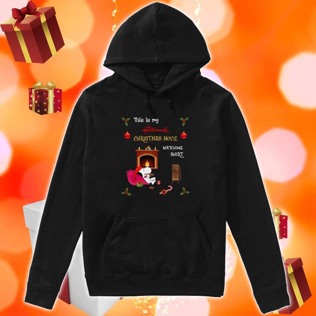 Snoopy this is my Hallmark Christmas movie watching hoodie