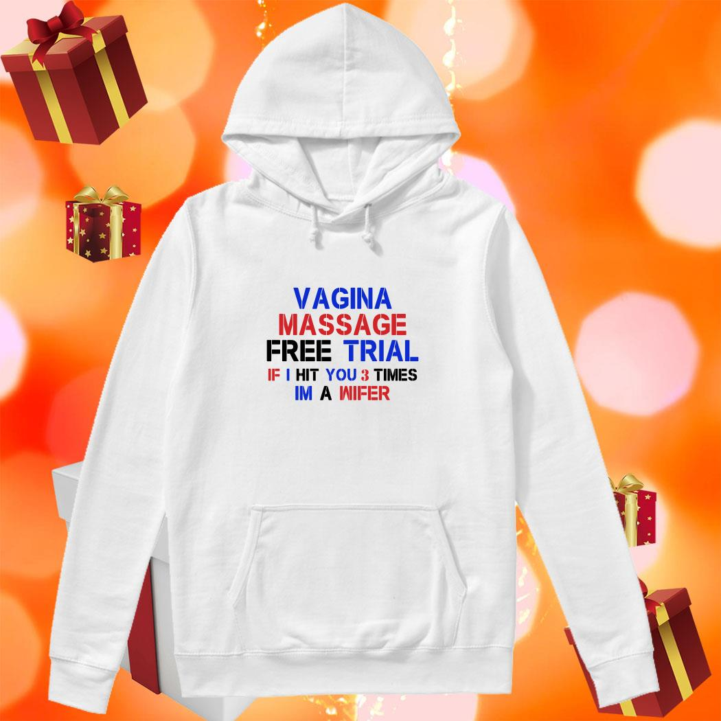 Vagina Massage Free Trial I hit you 3 times hoodie