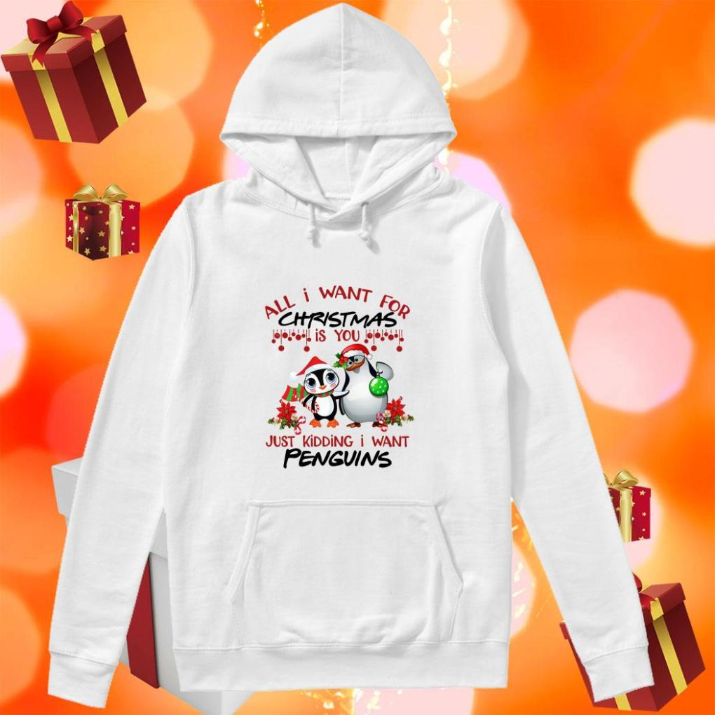 All I want for Christmas is you just kidding I want Penguins hoodie