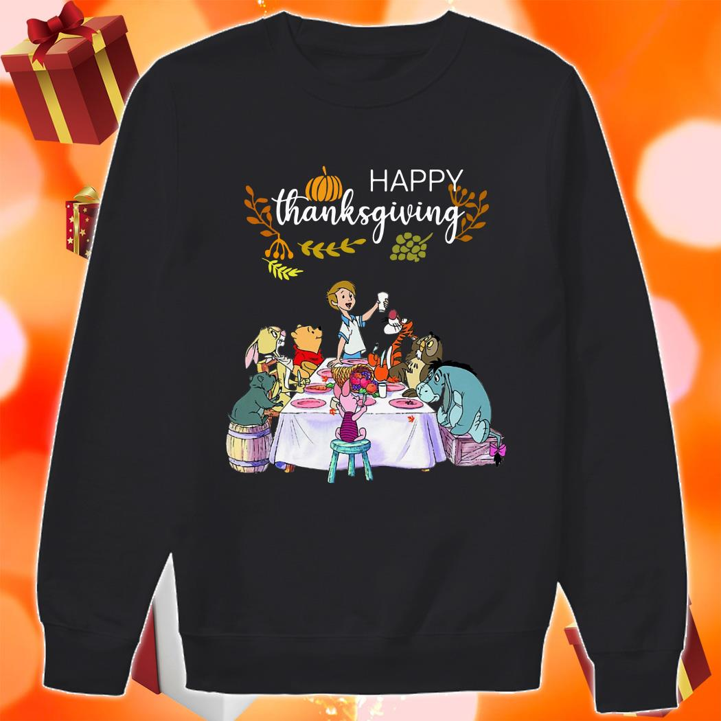 Winnie The Pooh Happy Thanksgiving sweater