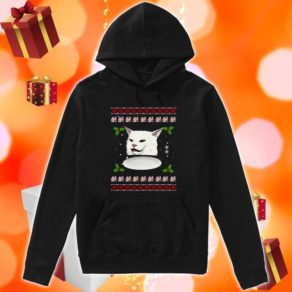 Woman Yelling Cat Meme Ugly Christmas hoodie