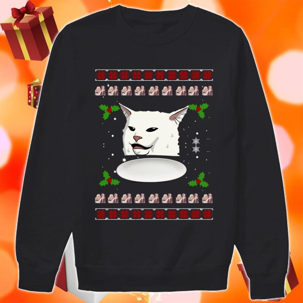 Woman Yelling Cat Meme Ugly Christmas sweater