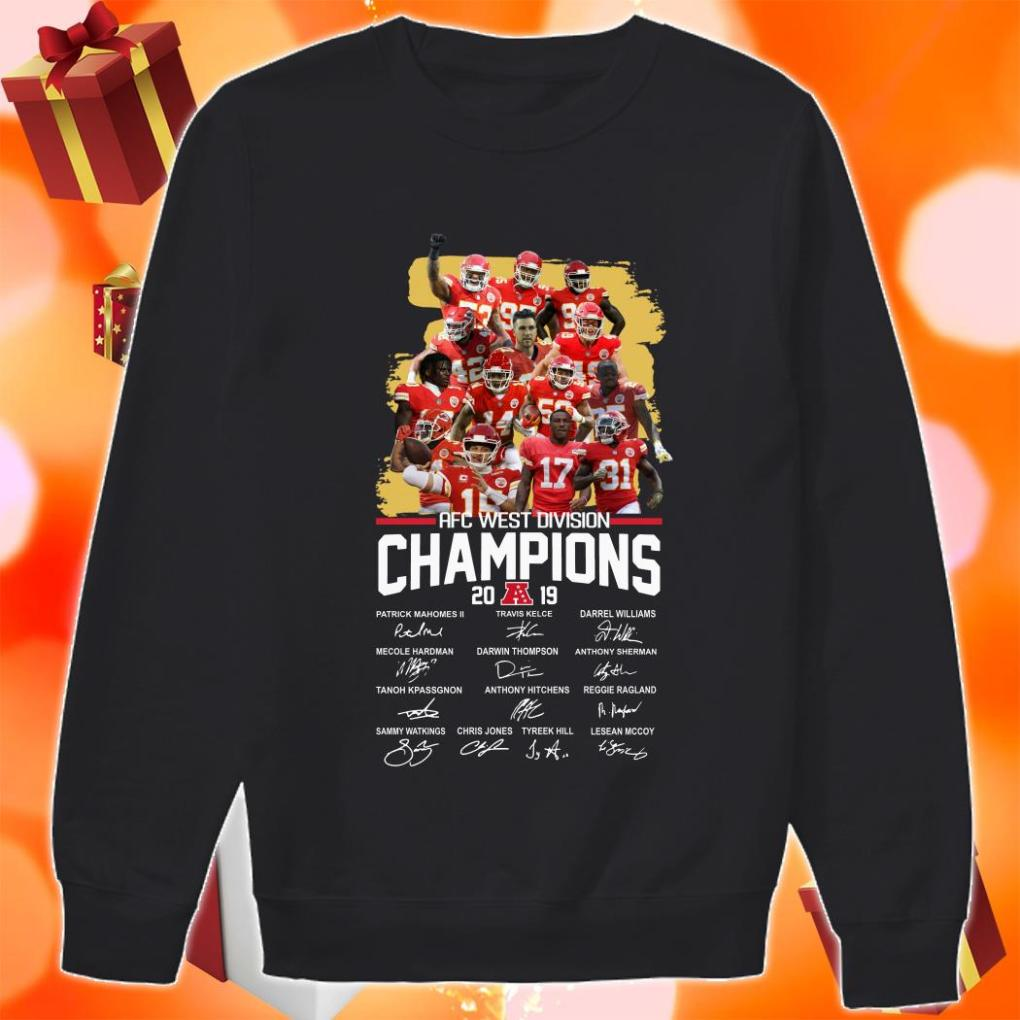 American Football Conference AFC West Division Champions 2019 Signatures sweater