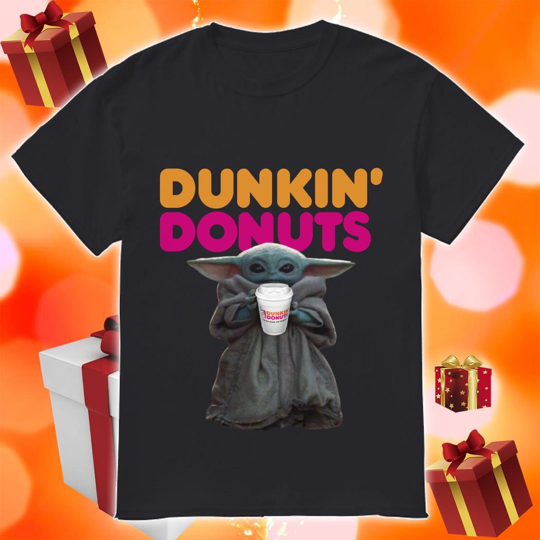 Baby Yoda Dunkin Donuts shirt