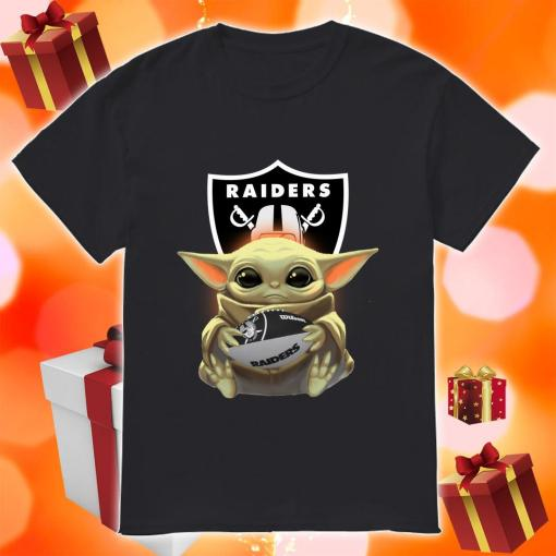 Baby Yoda Hug Ball Raiders shirt