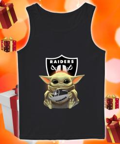 Baby Yoda Hug Ball Raiders tank top
