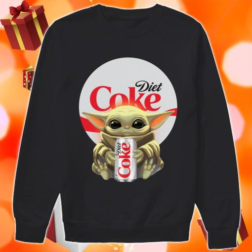 Baby Yoda hug Diet Coke sweater