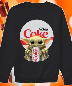 Baby Yoda hug Diet Coke sweater