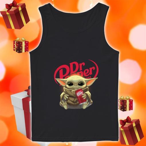 Baby Yoda hug Dr Pepper tank top