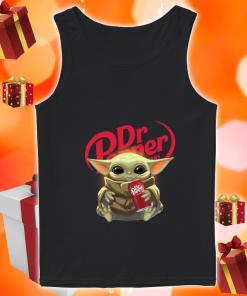 Baby Yoda hug Dr Pepper tank top