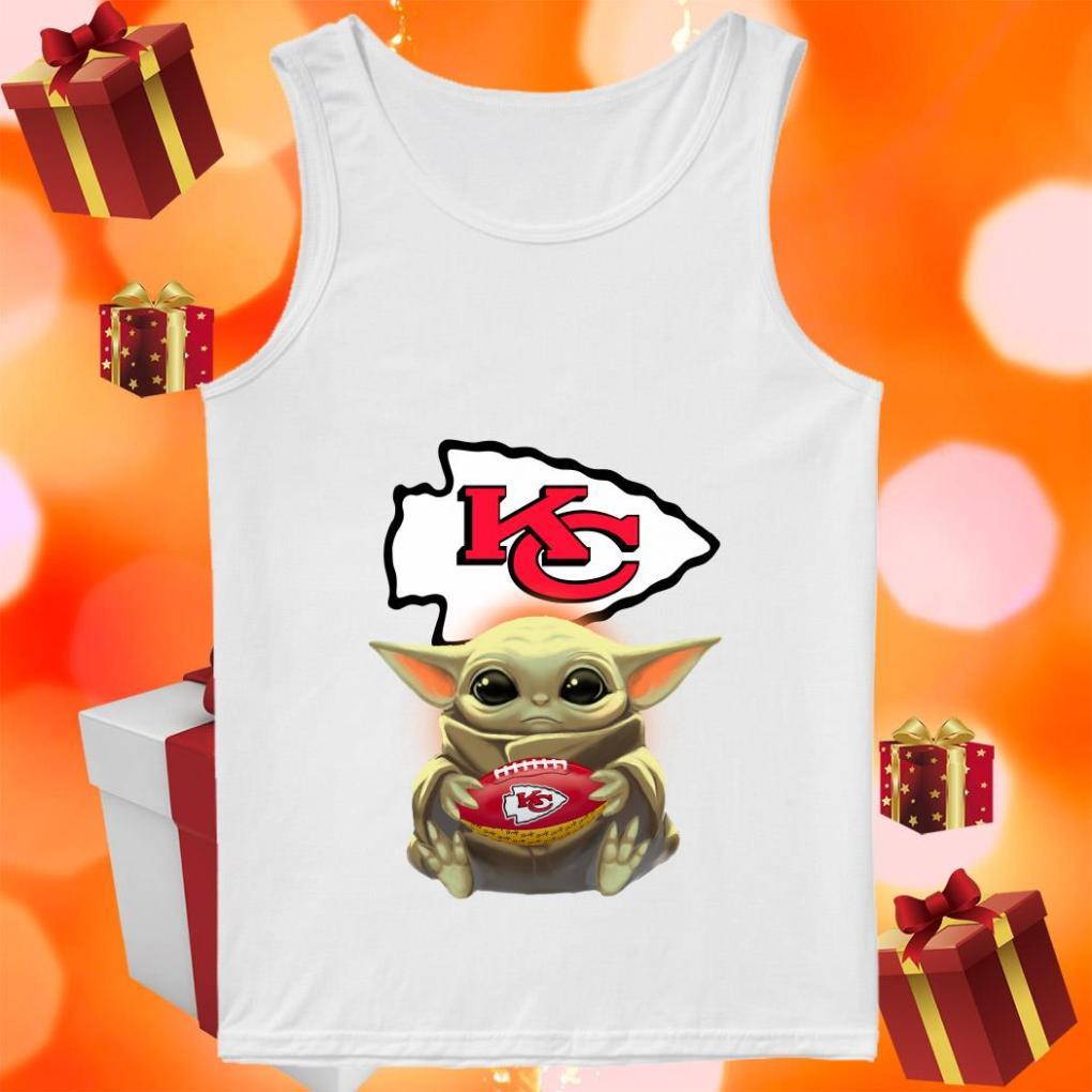 Baby Yoda Hug Kansas City Chiefs tank top