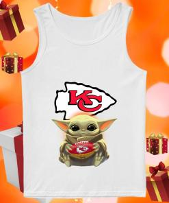 Baby Yoda Hug Kansas City Chiefs tank top