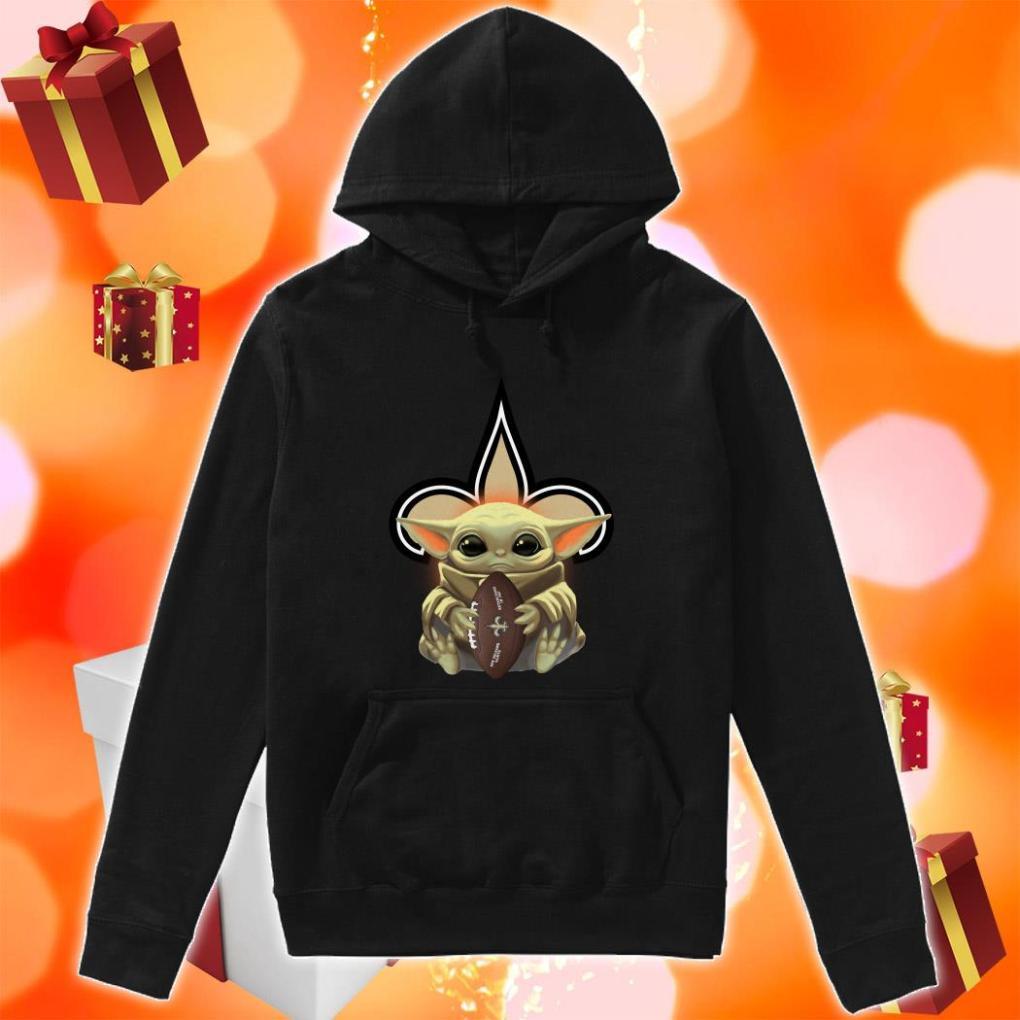 Baby Yoda Hug New Orleans Saints hoodie
