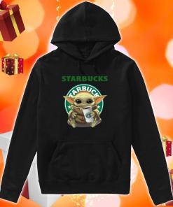 Baby Yoda hug Starbucks Coffee hoodie