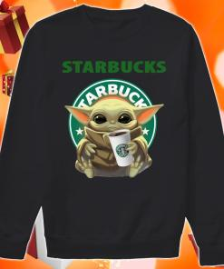 Baby Yoda hug Starbucks Coffee sweater