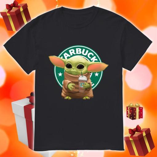 Baby yoda hug Starbucks ice cream shirt
