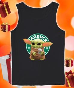 Baby yoda hug Starbucks ice cream tank top